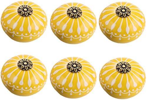 Vintage Keramik Porzellan ART DECO 16009-E 066 JKGH goldgelb gelb ocker Jay Knopf M/öbelknopf M/öbelknauf,M/öbelkn/öpfe M/öbelgriff