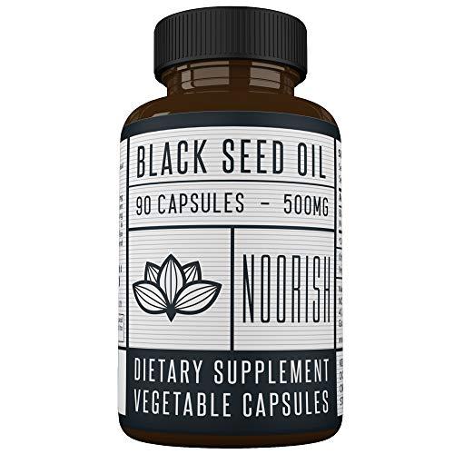 Black Seed Oil Capsules - Cold Pressed Nigella Sativa (Non-GMO) - Black Cumin Seed Oil - 500 MG 90 Capsules