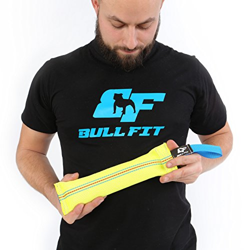 New Dog Bite Tug Toy - Extra Tough, Durable, Interactive Toys For Medium to Large Dogs by Bull Fit - Best For Tug of War, Fetch & Puppy Training! - Safe Fire Hose Dog Tug with Strong Handle, It Floats by Bull Fit (Image #7)