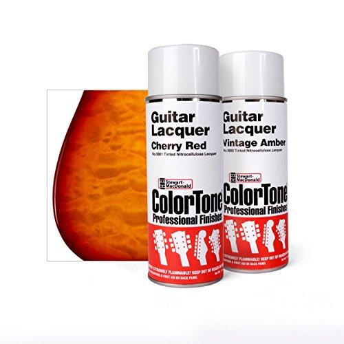 ColorTone Tinted Aerosol Guitar Lacquer Cherry Sunburst Spray Set