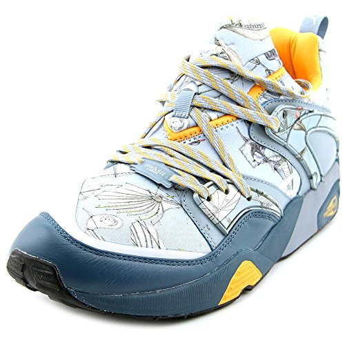Puma Blaze Van Glorie X Swash Os Heren Ronde Neus Canvas Blauwe Sneakers Indian Teal-orange