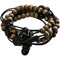 Wraps Limited Edition Wearable Braided Wristband Headphone Earbuds, Skulls (WRLESK-V16M)