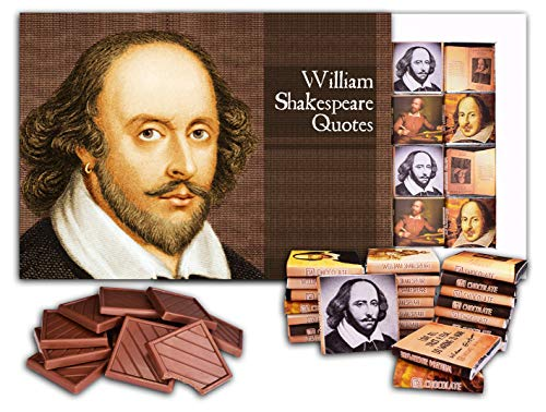 DA CHOCOLATE Cute Candy WILLIAM SHAKESPEARE QUOTES Chocolate Gift Set 9.8x7In 4.23 Oz