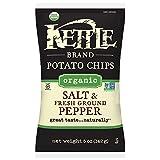 Kettle Brand Potato Chips, Organic Salt & Fresh Ground Black Pepper, 5 Ounce Bags (Pack of 15)