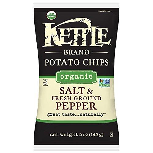 (Kettle Brand Potato Chips, Organic Salt & Fresh Ground Black Pepper, 5 Ounce Bags (Pack of 15))