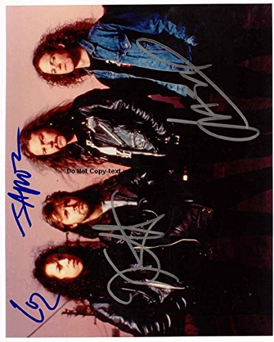 Metallica Autographed Preprint Signed Photo 4
