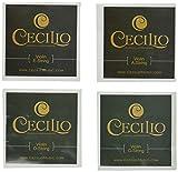 Cecilio 4 Packs of Stainless Steel 1/8 - 1/10 Violin Strings Set (Total 16 Strings)
