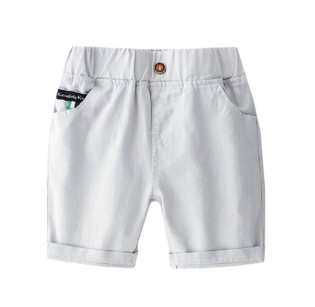 GLORYA Boys Solid Cotton Crimping Cute Girls Short