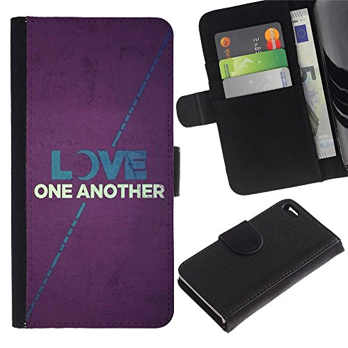 OMEGA Case / Apple Iphone 4 / 4S / LOVE ON ANOTHER / Cuir PU Portefeuille Coverture Shell Armure Coque Coq Cas Etui Housse Case Cover Wallet Credit Card