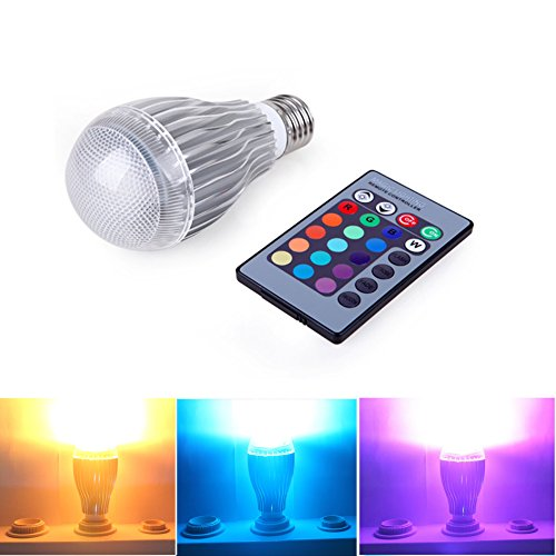BATTOP Remote Controlled Color Changing E27 Medium Screw Base LED Light Bulb 16 Color Choice by BATTOP-Light Bulbs