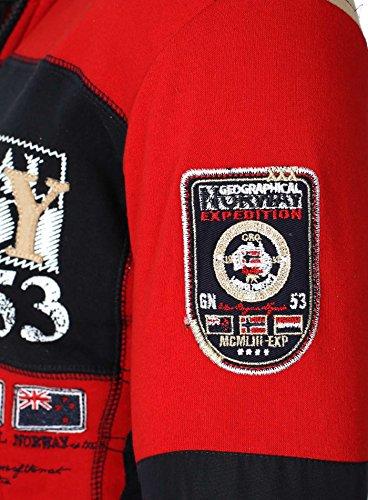 Fit Norway Geographical Rojo Chaqueta Hombres capucha con Delgado qY0d5