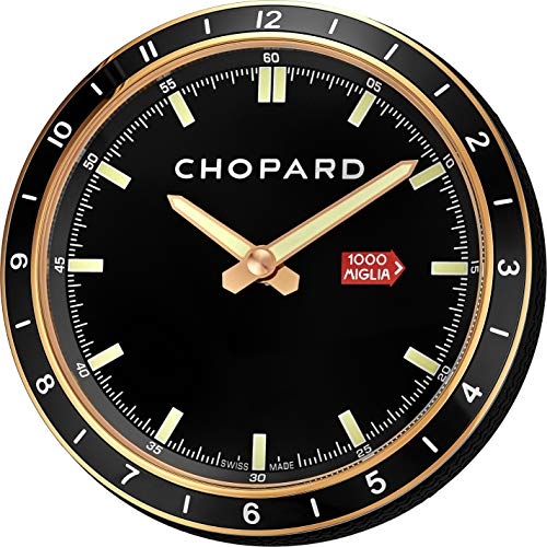 Price comparison product image Chopard Mille Miglia Table Racing Rose Gold Black Face Luminous Table Clock 95020-0093