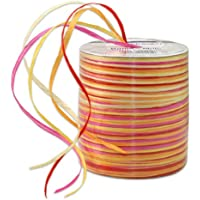 Morex Ribbon Rayon Raffia Fabric Ribbon Spool, 55-Yard, Cerise
