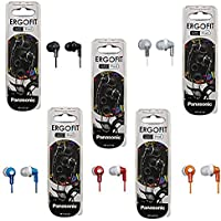 Panasonic ErgoFit In-Ear Earbud Headphones - 5 Pack (Assorted Colors)