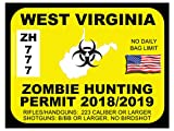 West Virginia Zombie Hunting Permit (Bumper Sticker)