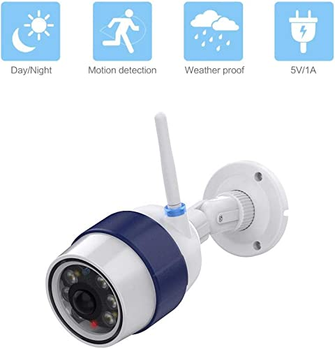 Night Watch Security 1 Pack Bullet Dummy Fake Surveillance Camera with Motion Sensor LED Security Light Indoor and Outdoor