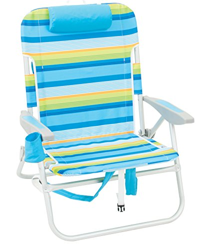 Rio Brands Big Guy Backpack Chair - Blue & Green Stripe, Blue/Green