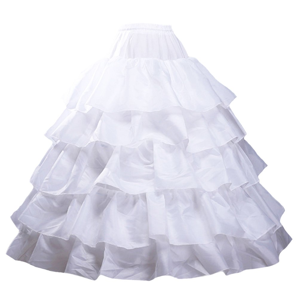 Beauty-Emily Petticoat Six Hoops Ball Crinoline Wedding Skirt HOT331BK00