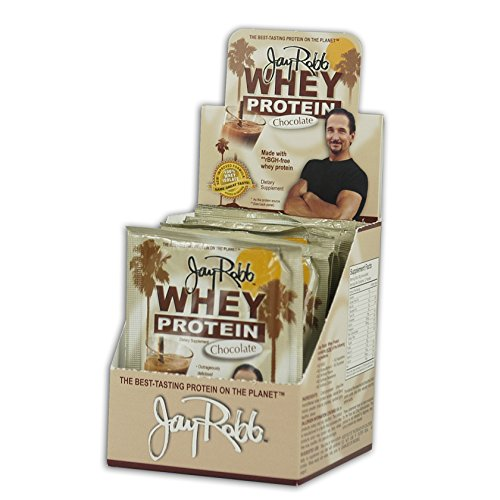 Jay Robb - Grass-Fed Whey Protein Isolate Powder, Outrageously Delicious, Chocolate, 12 Packets