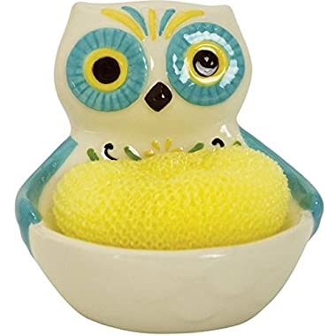 Boston Warehouse Floral Owl Scrubby Holder 21 179