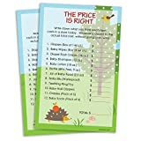 Woodland Animals Baby Shower Game - The Price is Right (Set of 20)