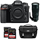 Nikon D500 CMOS DX DSLR Camera w/ 4K Video (Body) + 200-500mm f/5.6E ED VR AF-S NIKKOR Zoom Lens + 2x Lexar 64GB Professional 1000x SDHC/SDXC Class 10 Memory Card + Deluxe DSLR Camera Bag For Sale