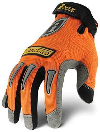 Ironclad IVO-05-XL I-Viz Reflective Gloves, Reflective Orange, Extra Large by Ironclad -
