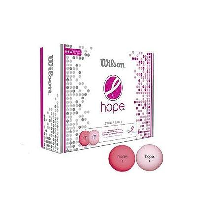 Wilson Hope 12 Ball Ladies Golf Balls (Pink/Hot Pink) from Wilson Golf