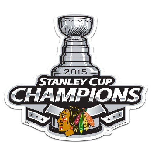 "2015 NHL Stanley Cup Champions Chicago Blackhawks Logo on the Gogo 6"" Car Grille Logo"