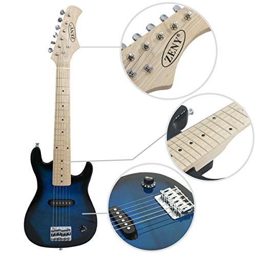 """Smartxchoices 30"""" Inch Kids Electric Guitar With 5W Amp & Much More Guitar Combo Accessory Kit Holiday Gift (Blue) - Image 4"""