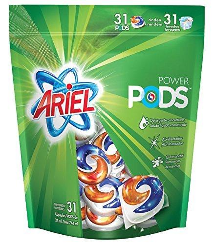 Ariel Laundry (Ariel Natural Soap Liquid Capsules Detergent 3 in 1 Power Pods 31 Units)