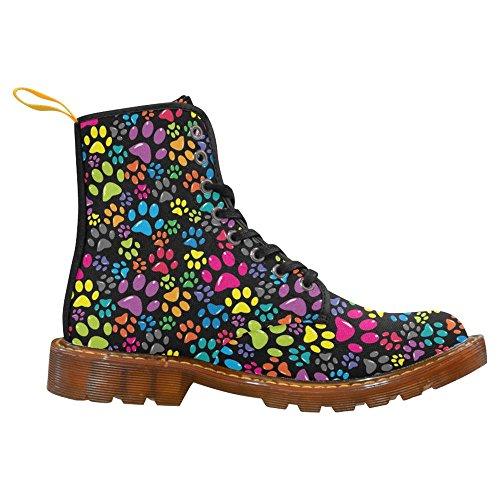 Interestprint Vrouwen Laarzen Uniek Ontworpen Troost Lace Up Boots Meerdere 4