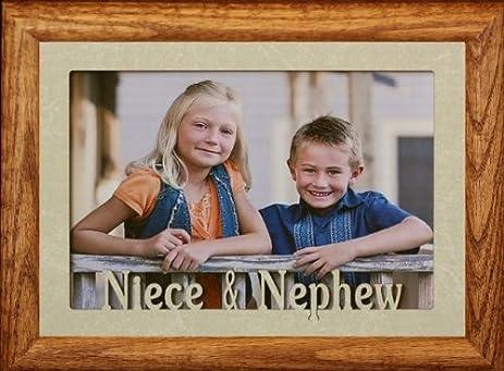 Amazon.com - 5x7 JUMBO ~ NIECE & NEPHEW Landscape FRUITWOOD Picture ...