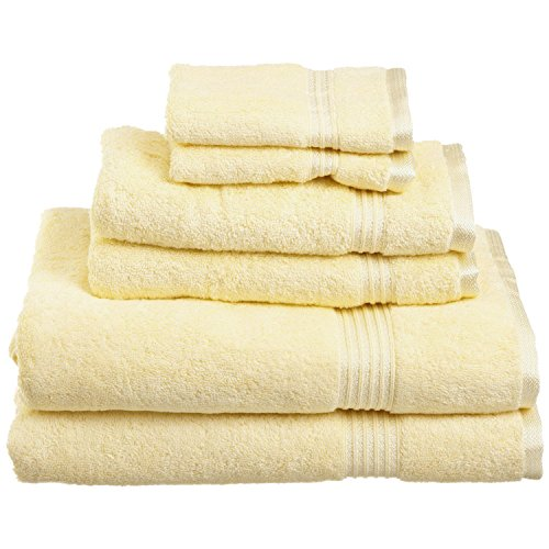 Superior Luxurious Soft Hotel & Spa Quality 6-Piece Towel Set, Made of 100% Premium Long-Staple Combed Cotton - 2 Washcloths, 2 Hand Towels, and 2 Bath Towels, Canary - Canary Kitchen Towel