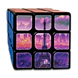 AVABAODAN Eiffel Tower Oil Painting Rubik's Cube Custom 3x3x3 Magic Square Puzzles Game Portable Toys-Anti Stress For Anti-anxiety Adults Kids