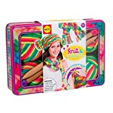 ALEX Toys - Do-it-Yourself Wear! Knit and Wear Kit with Rainbow Yarn, Wooden Needles and Keepsake Tin, 182T