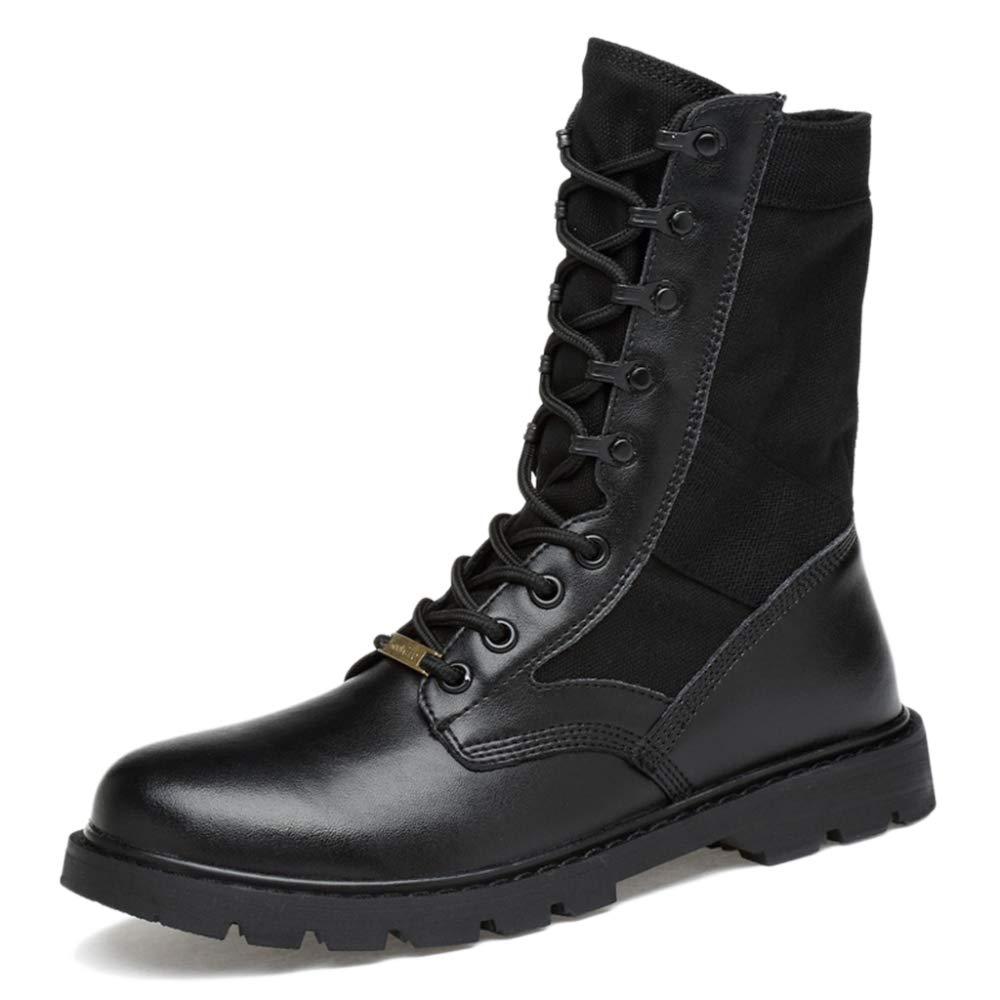 Botas Martin De Cuero Real Botas De Cuero De Desierto Botas De Desierto Botas Militares De Combate De Combate Botas Para Caminar Zapatos Para Caminar Zapatos De Entrenamiento 37|Black