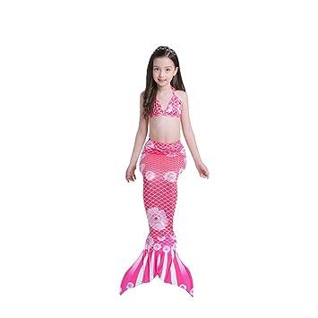 XDH Bikini Ajustable para Nadar Traje De Bano Sirena Niñas ...