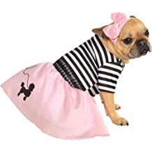 Rubies Costume Co Halloween Classics Collection Pet Costume, X-Large, 50s Girl Dress
