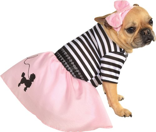 Rubie's Pet Costume, Medium, 50s Girl Dress (50s Pink Poodle Girls Costume)