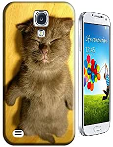 Brown Cat sleep lay on the Floor Lovely Cute cell phone cases for Samsung Galaxy S4