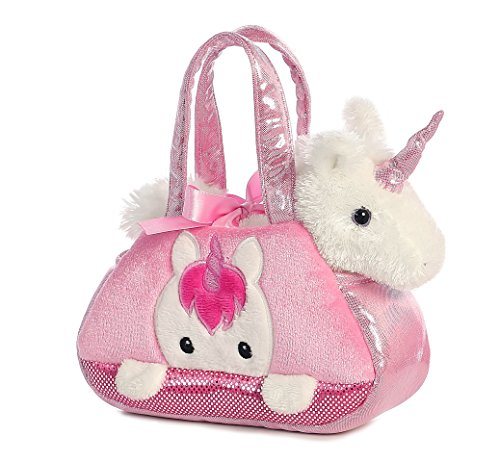 Aurora World Fancy Pals Pet Carrier, Peek-A-Boo Unicorn ()