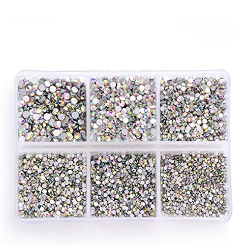 Used, Zealer 1800pcs Crystals AB Nail Art Rhinestones Round for sale  Delivered anywhere in USA