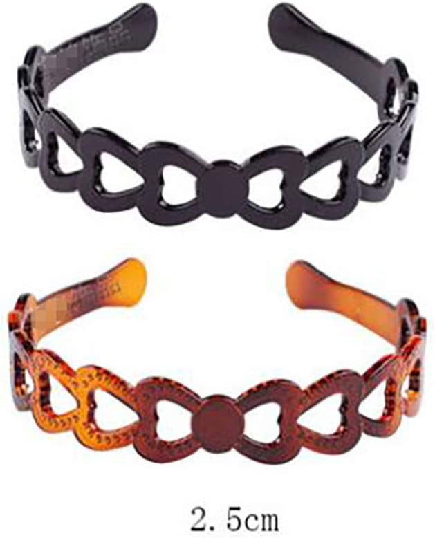 Set di 2/donne ragazze duro plastica fascia per capelli Hoop nero e marrone high-grade Headwear per