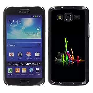 TopCaseStore / la caja del caucho duro de la cubierta de protección de la piel - Color Combo - Samsung Galaxy Grand 2 SM-G7102 SM-G7105