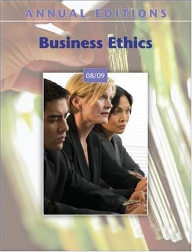 Annual Editions: Business Ethics 08/09
