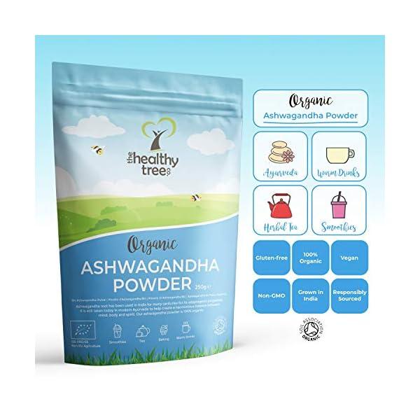 Polvere di Ashwagandha Cruda Bio di TheHealthyTree Company - Vegan, Erba 100% Naturale Ayurvedica Adattogena per la… 2 spesavip