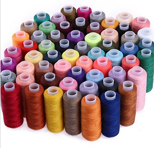 WHITE POPCORN SPEED 30 Assorted Colour Polyester Sewing Thread