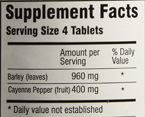 Green Supreme Barley Power Plus Cayenne 400 Tablets by Barley Power (Image #2)