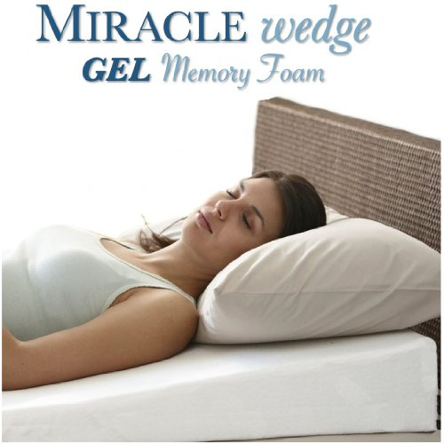 Find Discount Gel Memory Foam Wedge Pillow for Acid Reflux. Cool Temp Wedge Pillow for Gerd, Snoring...